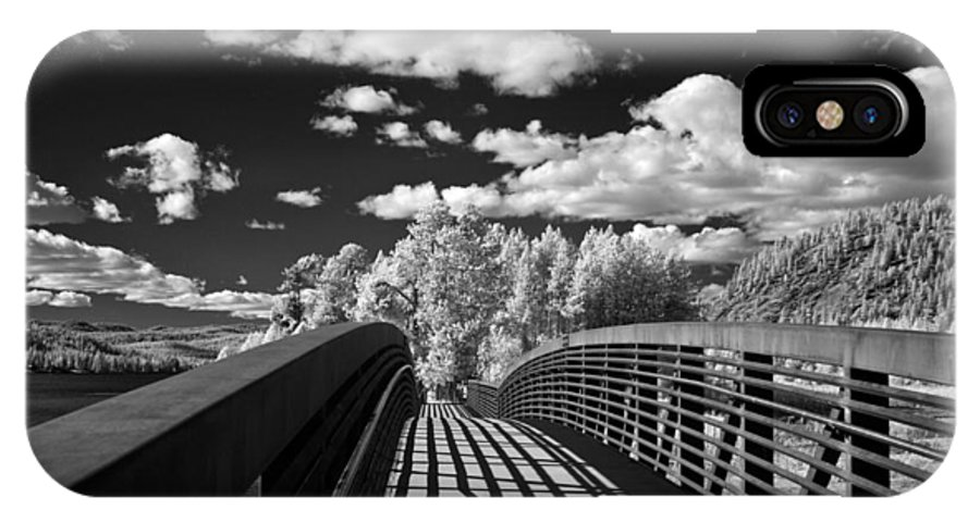 B&w IPhone X Case featuring the photograph Dover Slough Bridge 1 by Lee Santa