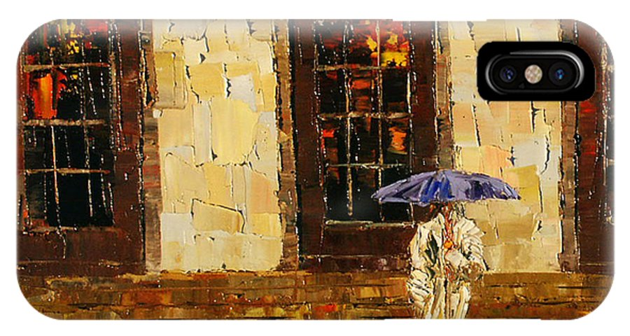 Steps IPhone X Case featuring the painting Down The Steps by Debra Hurd