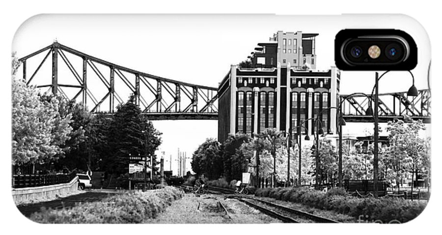 Down The Tracks IPhone X Case featuring the photograph Down The Tracks by John Rizzuto