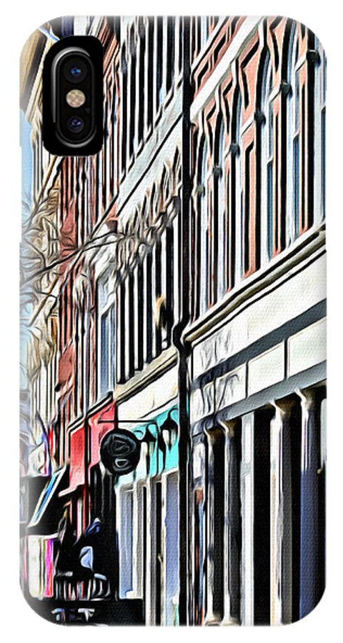 Bangor IPhone X / XS Case featuring the photograph Downtown Bangor by Modern Art