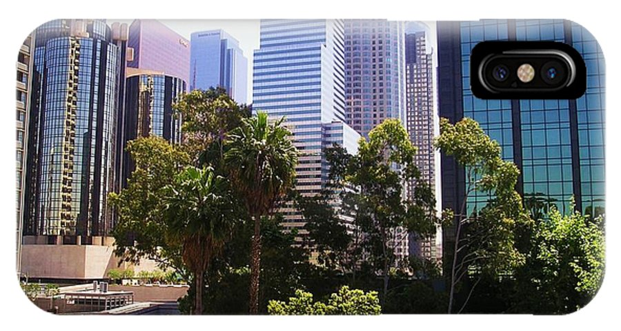 Downtown Los Angeles IPhone X / XS Case featuring the photograph Downtown Los Angeles. 6th Street by Sofia Metal Queen