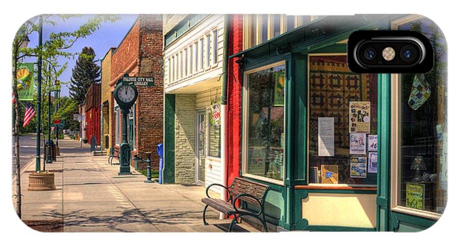Palouse IPhone X Case featuring the photograph Downtown Palouse Washington by Lee Santa