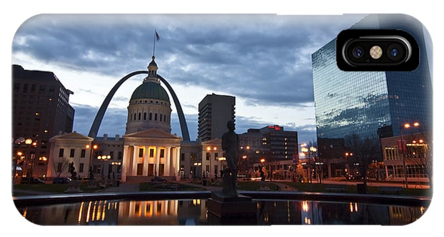 Gateway Arch IPhone X Case featuring the photograph Downtown St. Louis At Dawn by Sven Brogren