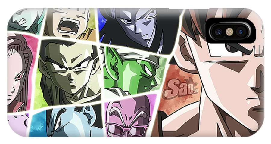 Goku IPhone X Case featuring the digital art Jiren by Babbal Kumar