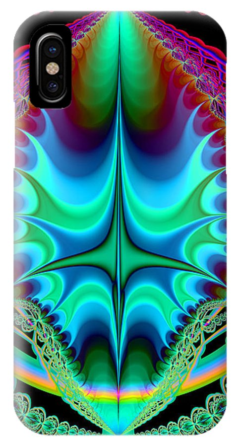 Fractal IPhone X Case featuring the digital art Dragon Egg by Frederic Durville