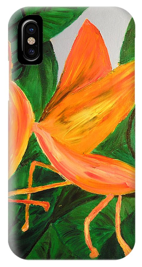 Insect IPhone Case featuring the painting Dragon Horsefly by Lola Connelly