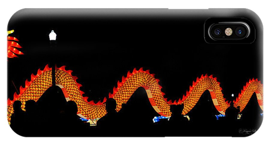 Lantern IPhone X / XS Case featuring the photograph Dragon Lantern by Kayvee Photography