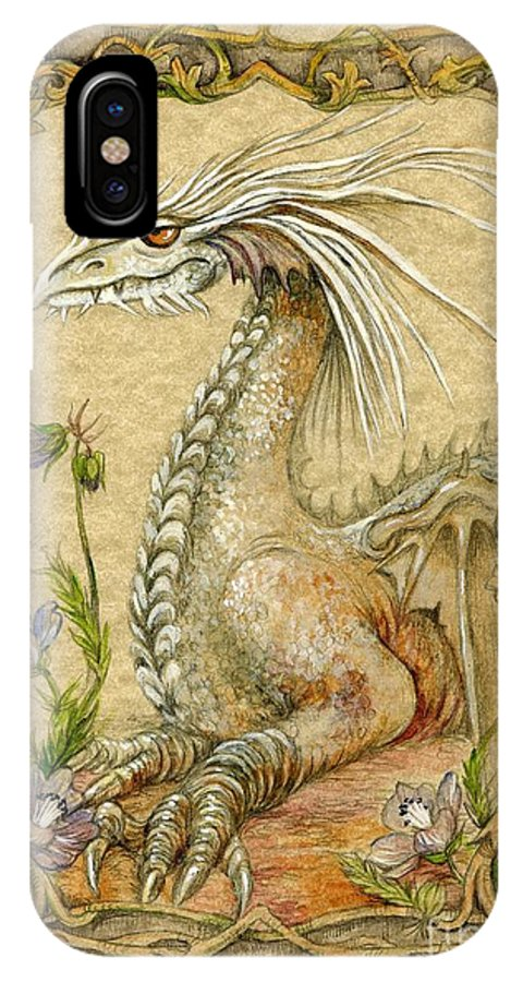 Dragon IPhone Case featuring the painting Dragon by Morgan Fitzsimons