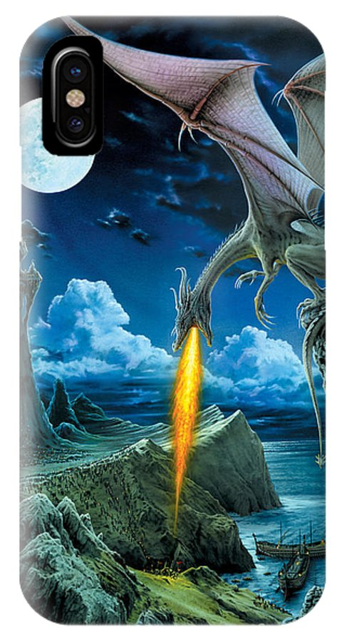 Dragon IPhone X Case featuring the photograph Dragon Spit by The Dragon Chronicles - Robin Ko