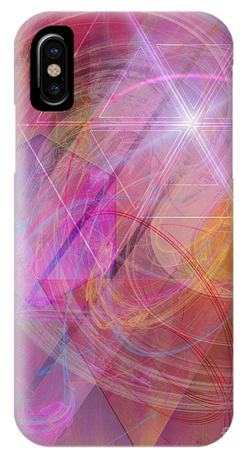 Dragon's Gem IPhone X / XS Case featuring the digital art Dragon's Gem by John Beck