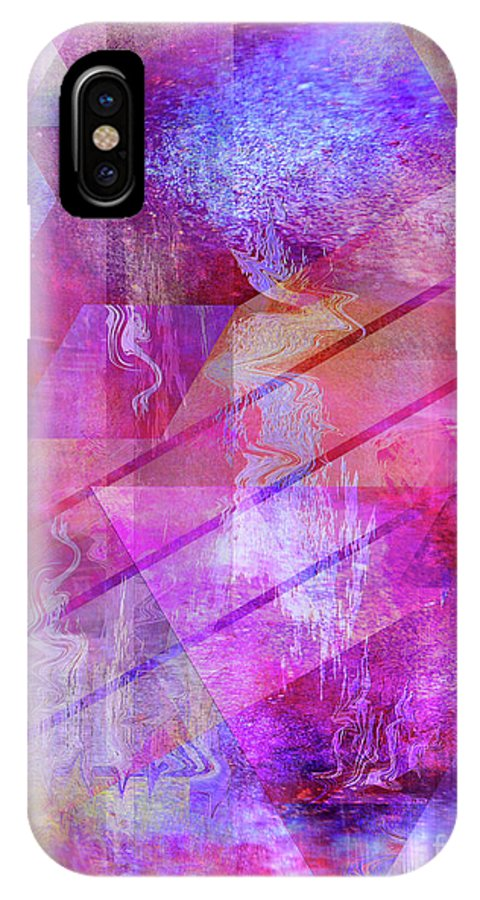 Dragon's Kiss IPhone X Case featuring the digital art Dragon's Kiss by John Beck