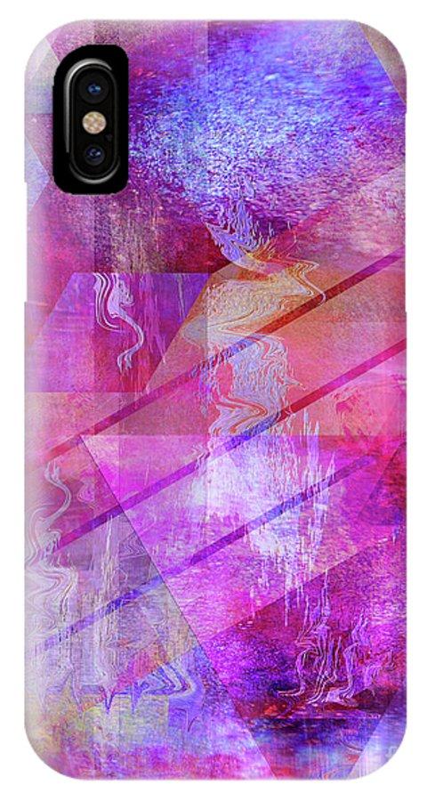 Dragon's Kiss IPhone X Case featuring the digital art Dragon's Kiss by John Beck