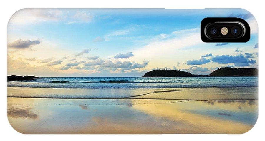 Area IPhone X Case featuring the photograph Dramatic Scene Of Sunset On The Beach by Setsiri Silapasuwanchai