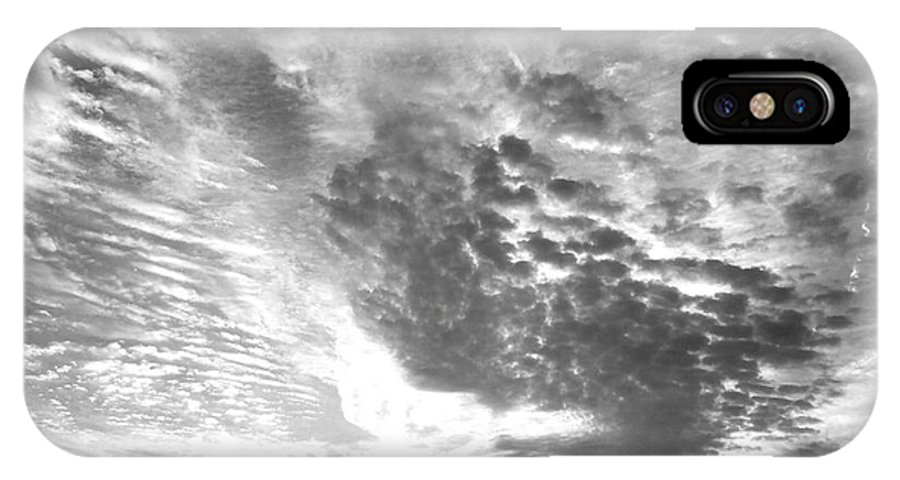 Dramatic Sky IPhone X Case featuring the photograph Dramatic Sky Bw by Maria Urso