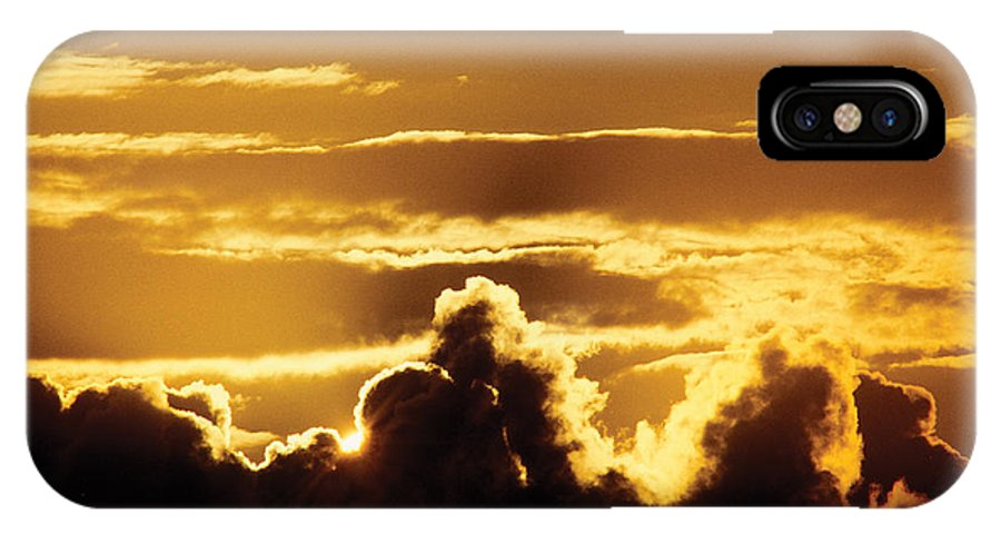 Nature IPhone X Case featuring the photograph Dramatic Sky by Steve Somerville