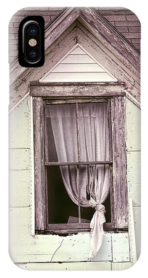 Abandoned House IPhone X / XS Case featuring the photograph Drapes by William Tasker