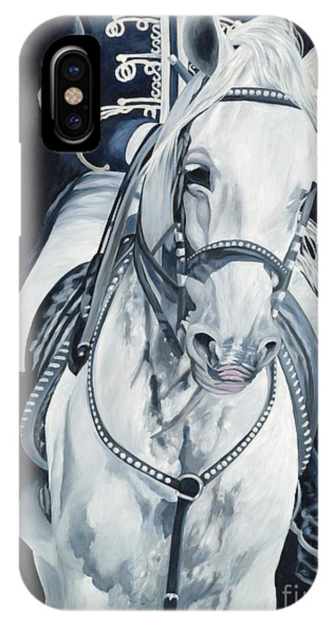 Stallion IPhone X Case featuring the painting Dream Rider by Danielle Perry