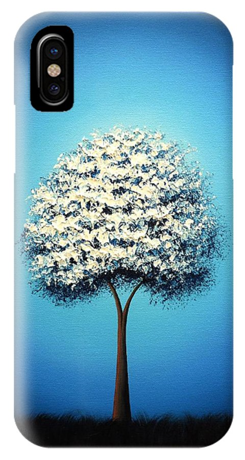 White Tree Painting IPhone X / XS Case featuring the painting Dream The Night by Rachel Bingaman