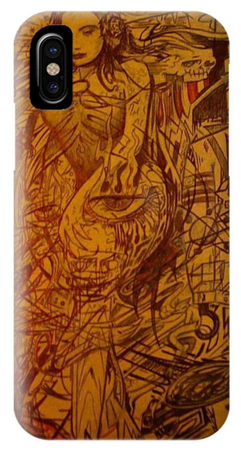 Chaos IPhone X Case featuring the drawing Dream by Will Le Beouf