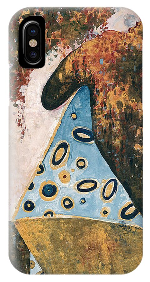 IPhone X Case featuring the painting Dreaming by Maya Manolova