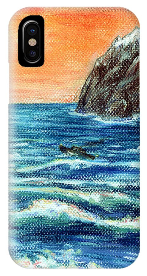 Sea IPhone X / XS Case featuring the painting Dreaming Of The Sea by Alexandra Cook
