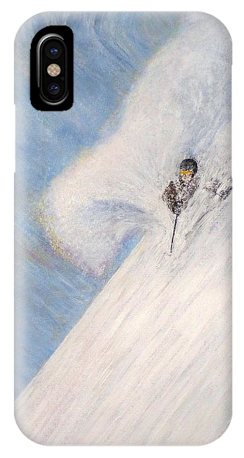 Landscape IPhone X Case featuring the painting Dreamsareal by Michael Cuozzo