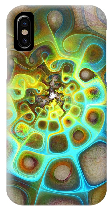 Digital Art IPhone X Case featuring the digital art Dreamscapes by Amanda Moore