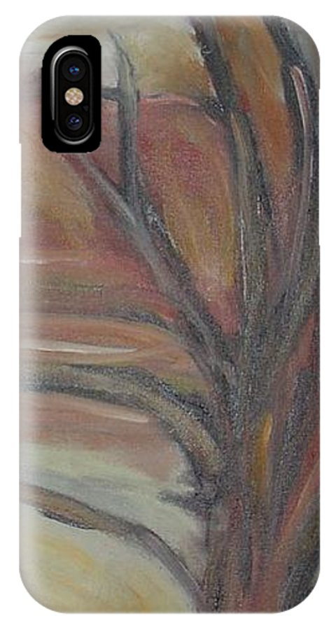 Woods Tree Abstract Original Painting Winter IPhone Case featuring the painting Drift by Leila Atkinson