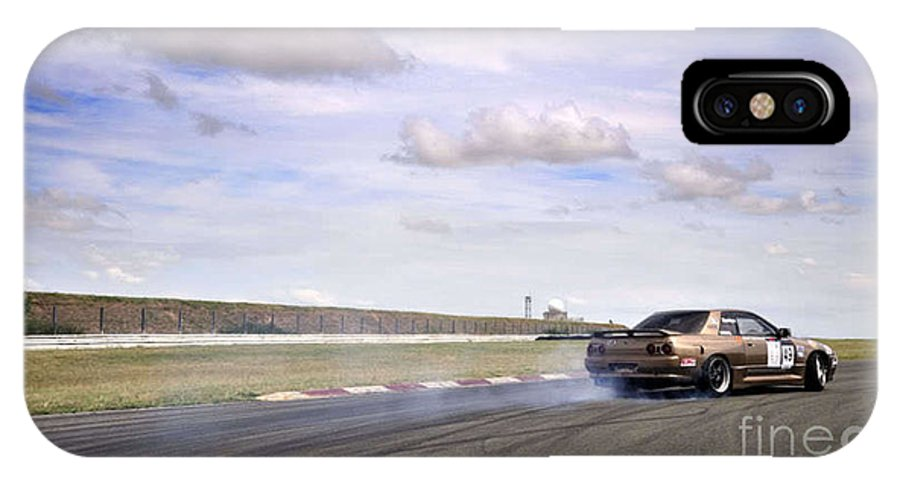 Car IPhone X Case featuring the photograph Drifting At Abbeville by Andy Smy