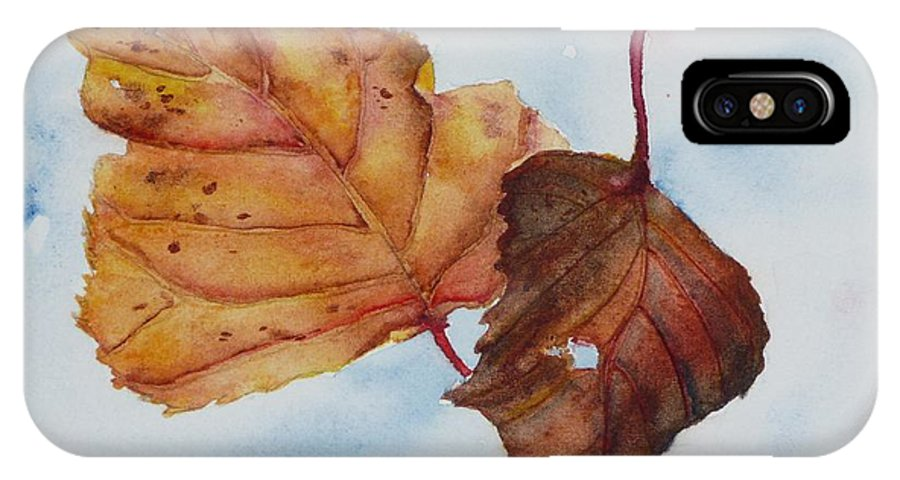 Fall IPhone Case featuring the painting Drifting by Ruth Kamenev