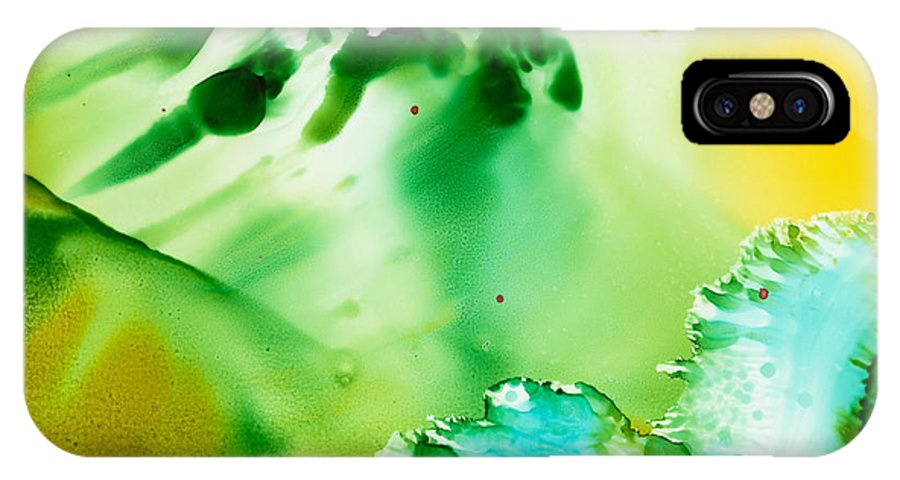 Underwater IPhone Case featuring the painting Drifting Seaweed by Susan Kubes
