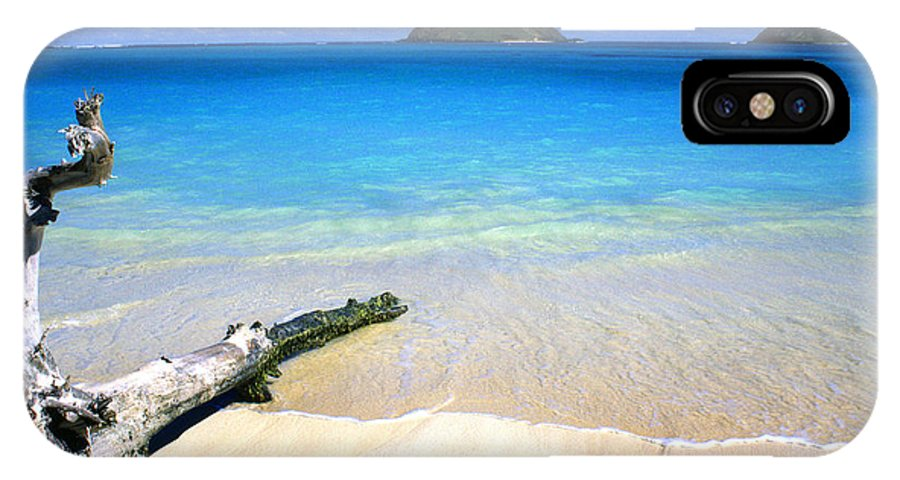 Lanikai Beach IPhone X Case featuring the photograph Driftwood And Islands by Thomas R Fletcher