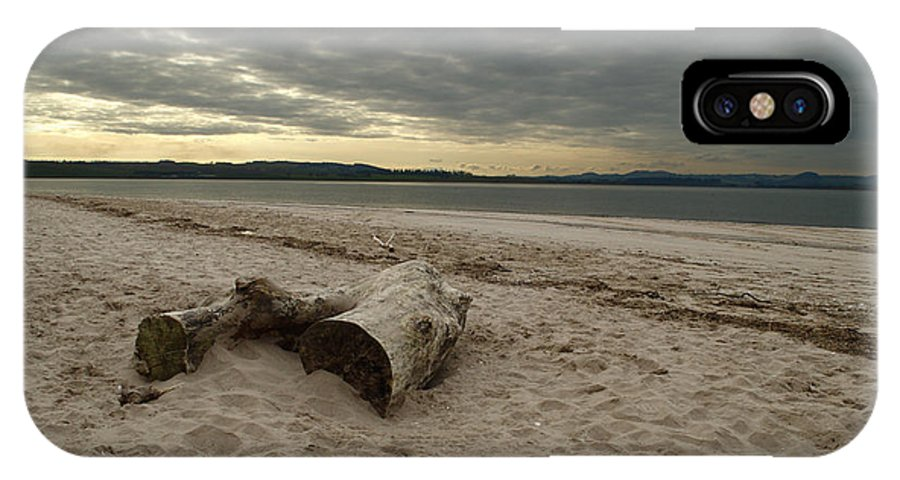 Landscape IPhone X Case featuring the photograph Driftwood On West Sands by Adrian Wale
