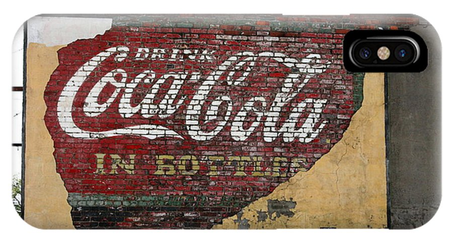Advertising IPhone X Case featuring the photograph Drink Coca Cola In Bottles 2 by David Dunham