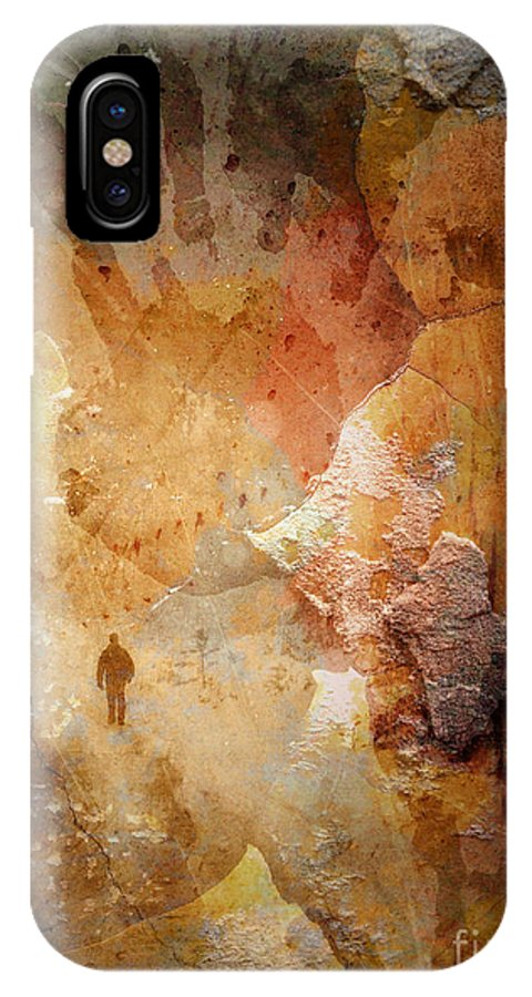 Depression IPhone X Case featuring the photograph Drinking Shadows From A Brown Paper Bag And Stumbling Over The Curb Into Night by Tara Turner