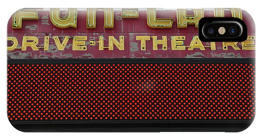 Drive In Theatre IPhone X Case featuring the photograph Drive Inn Theatre by David Lee Thompson