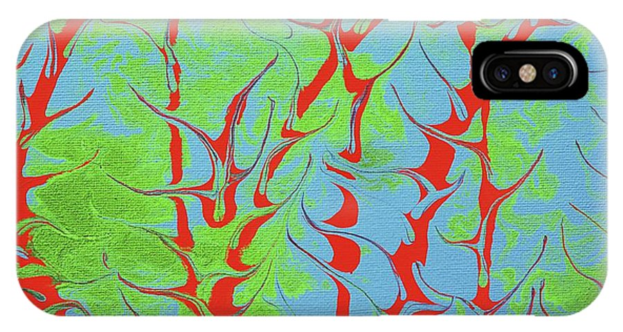 Keith Elliott IPhone X / XS Case featuring the painting Drive Naked - V1vhkf100 by Keith Elliott