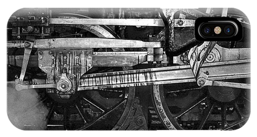 Trains IPhone X Case featuring the photograph Driving Wheels by Richard Rizzo
