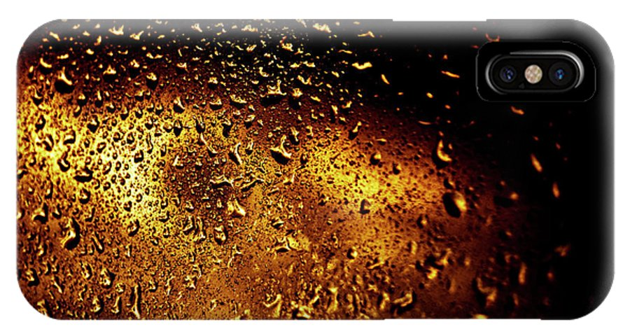 Water IPhone X Case featuring the photograph Droplets I by Grebo Gray