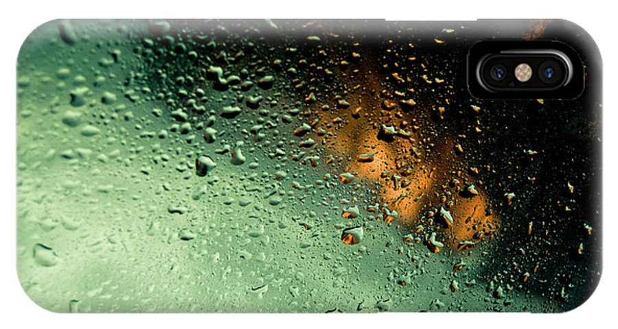 Water IPhone X Case featuring the photograph Droplets II by Grebo Gray