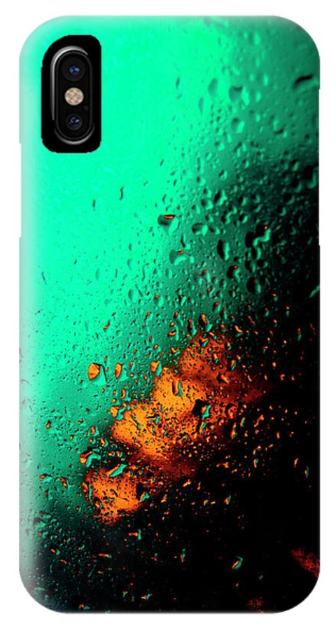 Water IPhone X Case featuring the photograph Droplets Iv by Grebo Gray