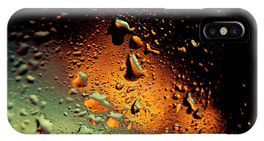 Droplets IPhone X Case featuring the photograph Droplets Ix by Grebo Gray