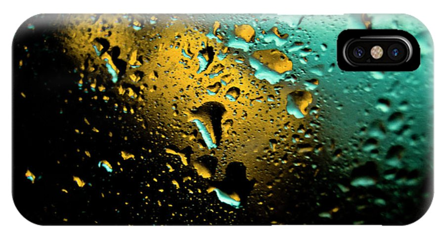Water IPhone X Case featuring the photograph Droplets Viii by Grebo Gray