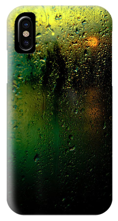 Droplets IPhone X Case featuring the photograph Droplets X by Grebo Gray