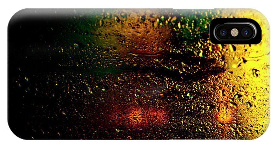 Droplets IPhone X Case featuring the photograph Droplets Xi by Grebo Gray