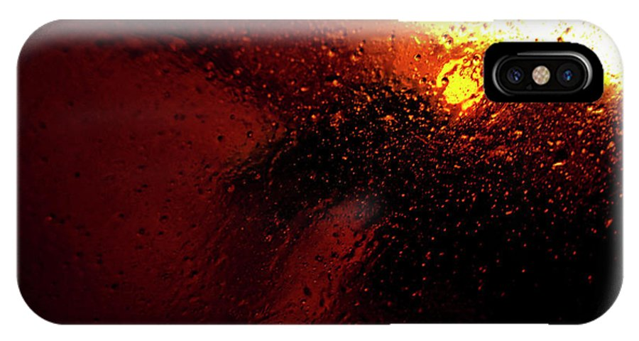 Droplets IPhone X Case featuring the photograph Droplets Xv by Grebo Gray