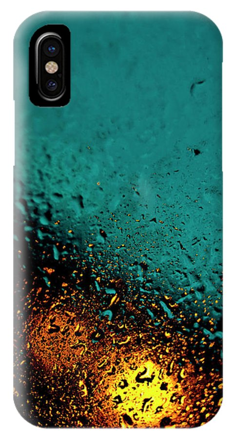 Droplets IPhone X Case featuring the photograph Droplets Xxii by Grebo Gray