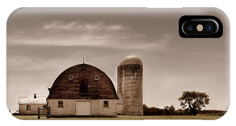 Farm IPhone X Case featuring the photograph Dry Earth Crumbles Between My Fingers And I Look To The Sky For Rain by Dana DiPasquale