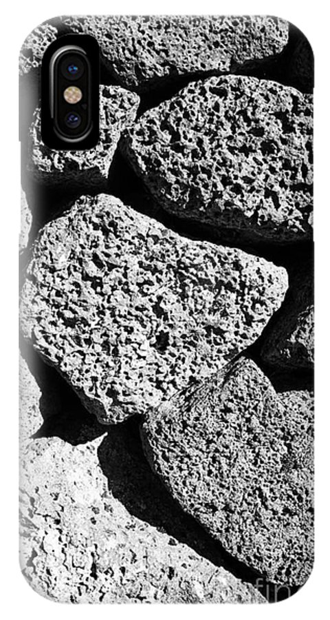 Dry IPhone X / XS Case featuring the photograph Dry Stone Wall Made Of Volcanic Rocks Reykjavik Iceland by Joe Fox