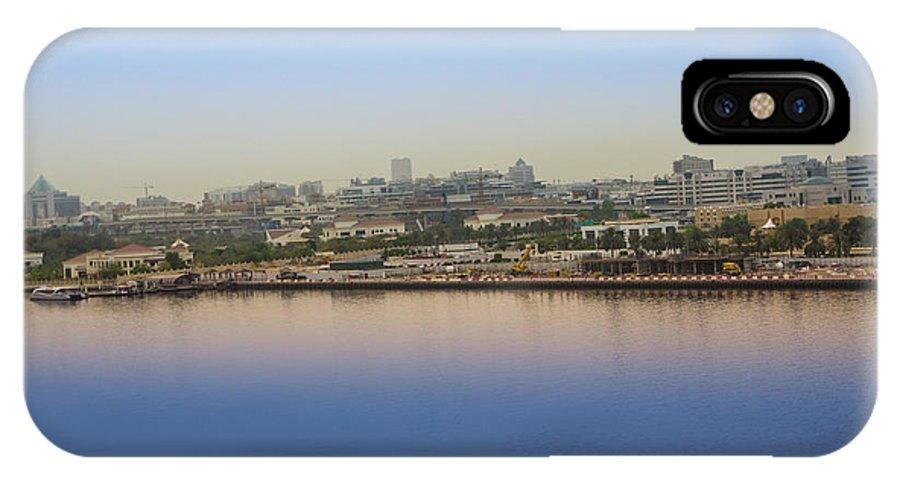 Dubai IPhone X / XS Case featuring the photograph Dubai City View by Art Spectrum
